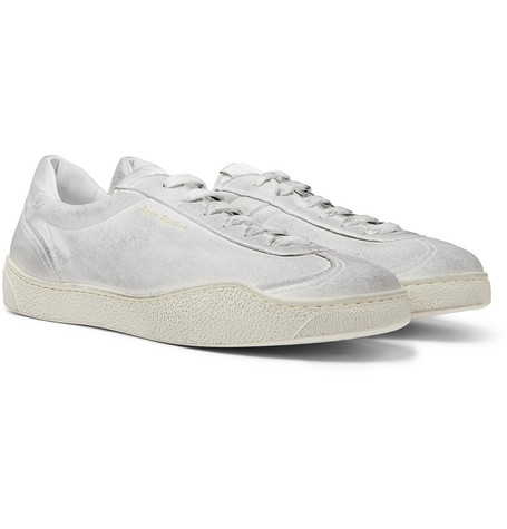 51dd0e7045af Acne Studios - Lars Tumbled Distressed Suede Sneakers