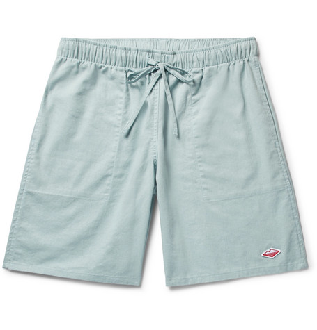 ACTIVE LAZY LINEN AND COTTON-BLEND DRAWSTRING SHORTS