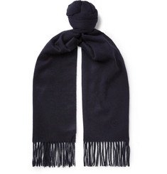 Kingsman + Johnstons of Elgin Fringed Cashmere Scarf