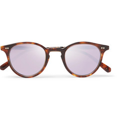 Mr Leight - Marmont Round-Frame Tortoiseshell Acetate Mirrored Sunglasses
