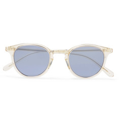 Mr Leight Marmont Round-Frame Acetate Mirrored Sunglasses