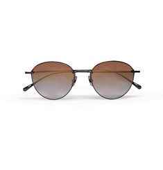 Mr Leight - Mulholland Round-Frame Gunmetal-Tone Sunglasses