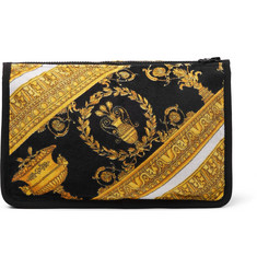 Versace I Heart Baroque Cotton-Terry Wash Bag