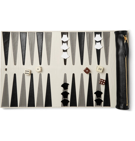 Versace Leather Backgammon Set