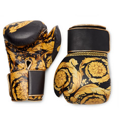 Versace - Barocco Printed Leather Boxing Gloves