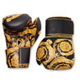 Versace Barocco Printed Leather Boxing Gloves