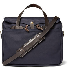 Filson - Original Leather-Trimmed Twill Briefcase