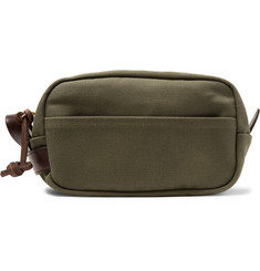 Filson - Leather-Trimmed Cotton-Canvas Wash Bag