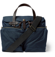 Filson - Leather-Trimmed Waxed Cotton-Canvas Briefcase