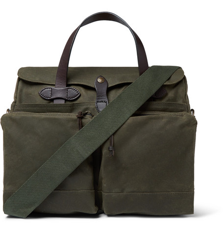 Coated Hour Canvas 24 Filson Leather Trimmed Briefcase xpqIPZ4