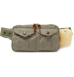 Filson Fishing Shearling-Trimmed Cotton-Canvas Belt Bag