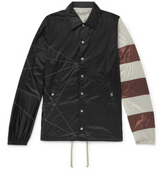 Rick Owens - Embroidered Striped Shell Jacket