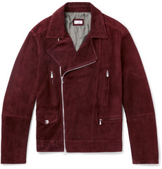 Brunello Cucinelli Slim-Fit Suede Biker Jacket