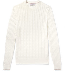 Brunello Cucinelli Cable-Knit Cotton Sweater