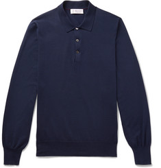 Brunello Cucinelli Knitted Cotton Polo Shirt