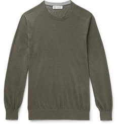 Brunello Cucinelli Linen and Cotton-Blend Sweater