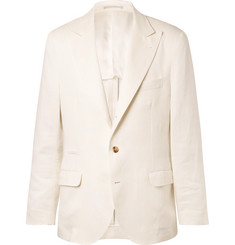 Brunello Cucinelli White Linen Suit Jacket
