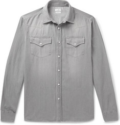Brunello Cucinelli - Washed-Denim Western Shirt