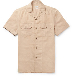 Brunello Cucinelli Camp-Collar Linen and Cotton-Blend Shirt