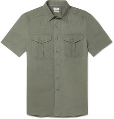 Brunello Cucinelli - Slim-Fit Linen and Cotton-Blend Shirt