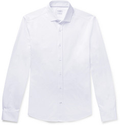 Brunello Cucinelli Slim-Fit Cutaway-Collar Cotton-Jersey Shirt