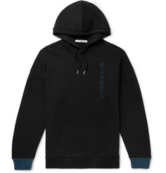 Givenchy Logo-Embroidered Loopback Cotton-Jersey Hoodie