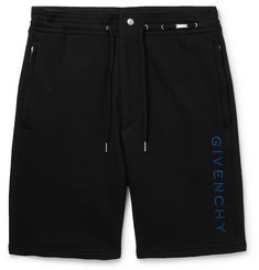 Givenchy Logo-Embroidered Loopback Cotton-Jersey Shorts
