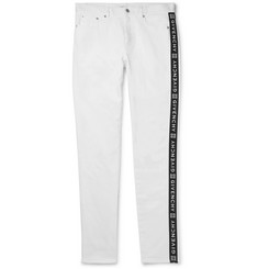 Givenchy Slim-Fit Logo-Jacquard Stretch-Denim Jeans