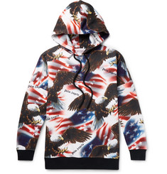 Palm Angels Printed Fleece-Back Cotton-Jersey Hoodie