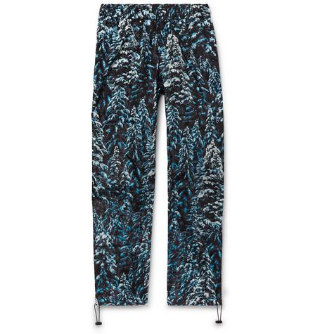 PALM ANGELS | Palm Angels - Wide-leg Camouflage-print Shell Sweatpants - Blue | Goxip