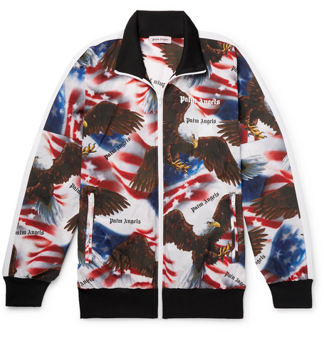 Printed Shell Track Jacket by Palm Angels