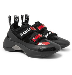 Palm Angels Recovery Suede, Neoprene and Rubber Sneakers