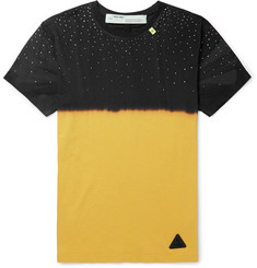 Off-White Slim-Fit Embellished Tie-Dyed Cotton-Jersey T-Shirt