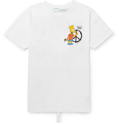 Off-White Bart Simpson Slim-Fit Printed Cotton-Jersey T-Shirt