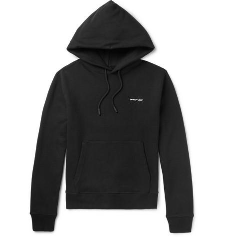 Off-White – Slim-fit Logo-print Loopback Cotton-jersey Hoodie – Black