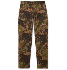 Off-White Slim-Fit Camouflage-Print Cotton-Twill Cargo Trousers