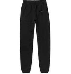 Off-White Slim-Fit Logo-Print Loopback Cotton-Jersey Sweatpants