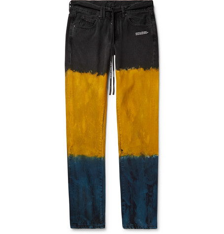 112c26a3ad3f Off-White - Slim-Fit Dip-Dyed Denim Jeans