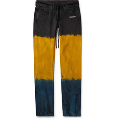Off-White Slim-Fit Dip-Dyed Denim Jeans