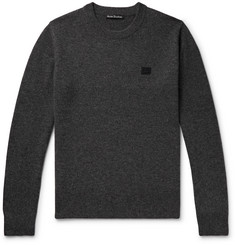 Acne Studios Nalon Appliquéd Mélange Wool Sweater