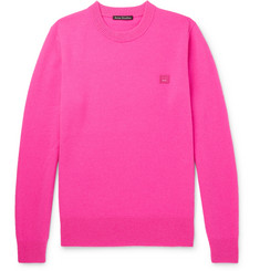 Acne Studios Nalon Face Appliquéd Wool Sweater
