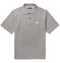 Acne Studios Elton Mélange Cotton-Piqué Polo Shirt