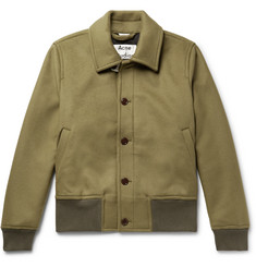 Acne Studios Ollys Brushed Wool-Blend Blouson Jacket