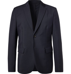 Acne Studios Navy Antibes Unstructured Wool and Mohair-Blend Blazer