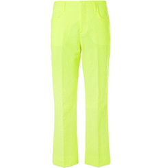 Acne Studios Neon-Yellow Jabir Linen-Blend Trousers