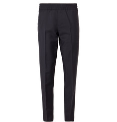 Acne Studios - Navy Ryder Wool and Mohair-Blend Drawstring Trousers