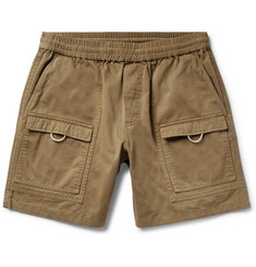 Acne Studios Rosso Wide-Leg Cotton-Twill Cargo Shorts