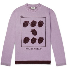 Acne Studios Kalm Intarsia Wool-Blend Sweater