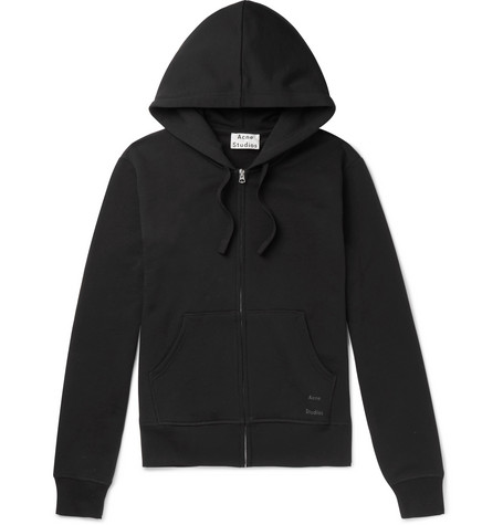 60c9fbb39c Acne Studios - Frake Slim-Fit Loopback Cotton-Jersey Zip-Up Hoodie