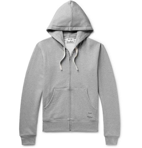 Frake Slim-Fit Mélange Loopback Cotton-Jersey Zip-Up Hoodie 8d94cefb5